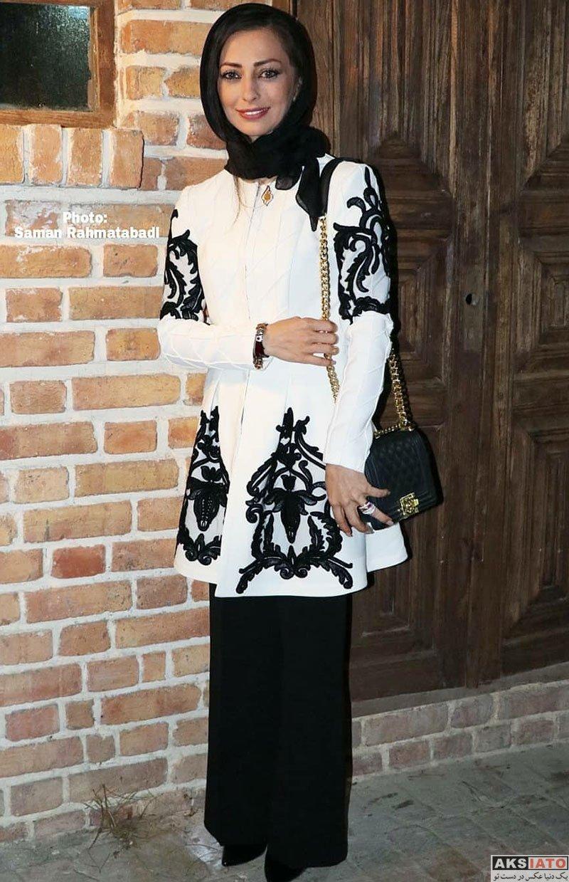 بازیگران بازیگران زن ایرانی  نفیسه روشن در مراسم مزایده لباس رونالدو و مسی (3 عکس)