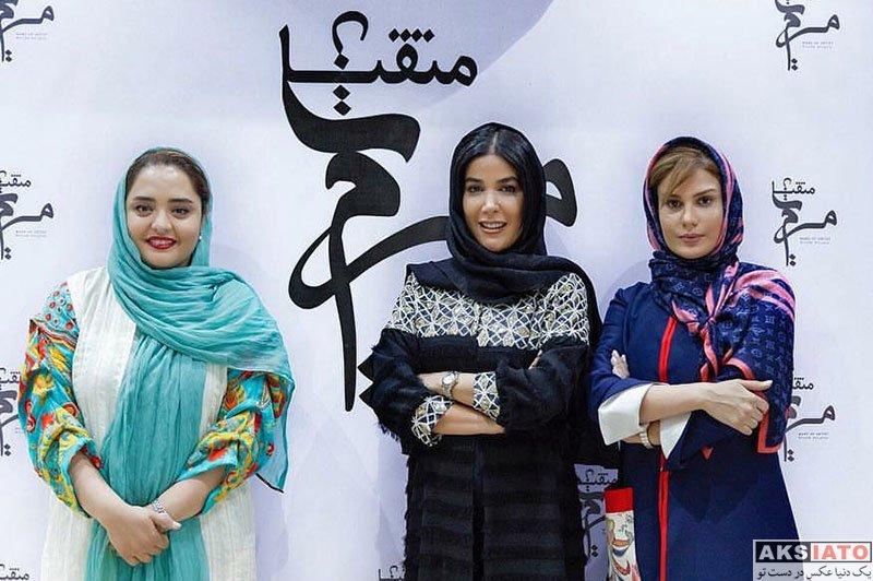 بازیگران بازیگران زن ایرانی  نرگس محمدی در افتتاحیه سالن زیبایی مریم متقیان (2 عکس)