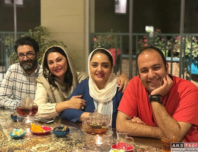 بازیگران بازیگران زن ایرانی  نرگس محمدی و همسرش در رستوران طاقچه (4 عکس)