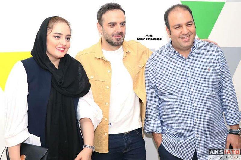 بازیگران بازیگران زن ایرانی خانوادگی  نرگس محمدی و همسرش در اکران خصوصی فیلم دشمن زن (4 عکس)