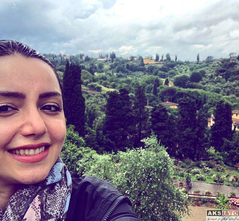 بازیگران بازیگران زن ایرانی  نازنین بیاتی در کشور زیبای ایتالیا (4 عکس)