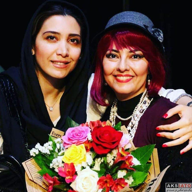 بازیگران بازیگران زن ایرانی  نیکی مظفری در اجرای نمایش شلیک به تئاتر شهر (3 عکس)