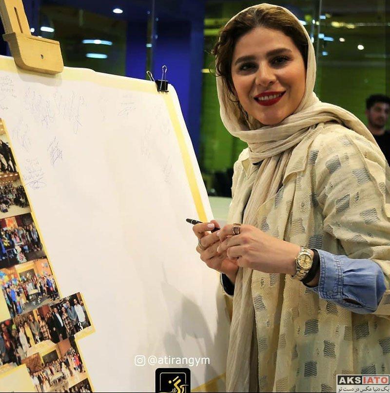 بازیگران بازیگران زن ایرانی  سحر دولتشاهی در جشن سالگرد مجموعه ورزشی آتیران (2 عکس)