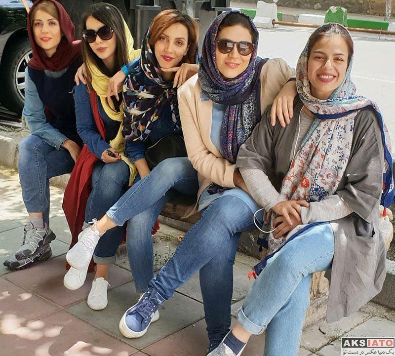بازیگران بازیگران زن ایرانی  سحر دولتشاهی در پشت صحنه سریال ساخت ایران (6 عکس)