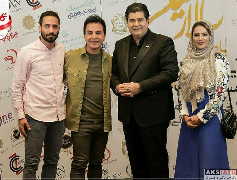 بازیگران بازیگران زن ایرانی  سالار عقیلی و همسرش در مراسم رونمایی سرود تیم ملی (3 عکس)