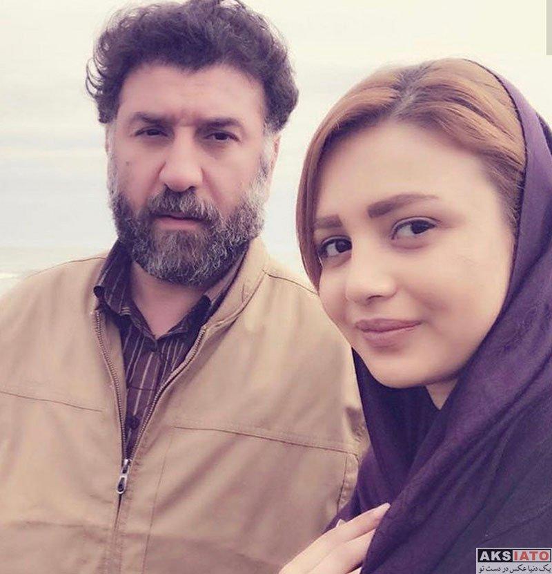 ورزشکاران ورزشکاران مرد  علی انصاریان در کنار خانم بازیگر (2 عکس)