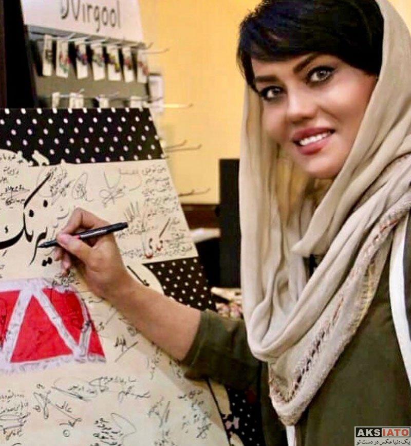 بازیگران بازیگران زن ایرانی  آرزو نبوت در اجرای نمایش نیرنگ و اورنگ (۳ عکس)