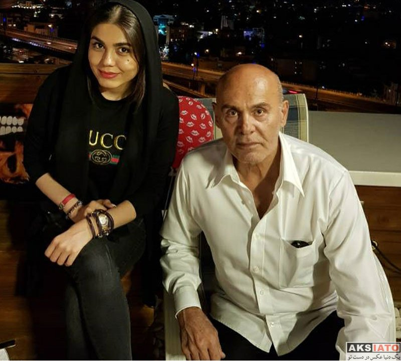 بازیگران بازیگران زن ایرانی  دورهمی آزاده زارعی با خانواده جمشید هاشم پور (4 عکس)