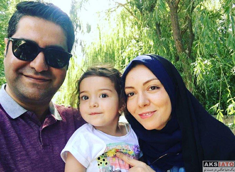 بازیگران مجریان  آزاده نامداری در کنار خانواده اش در روز دختر (2 عکس)