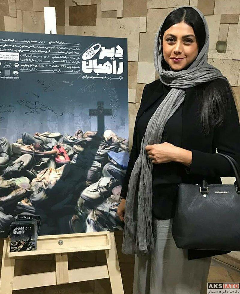 بازیگران بازیگران زن ایرانی  عکس های آزاده صمدی در تیر ماه 97 (7 تصویر)