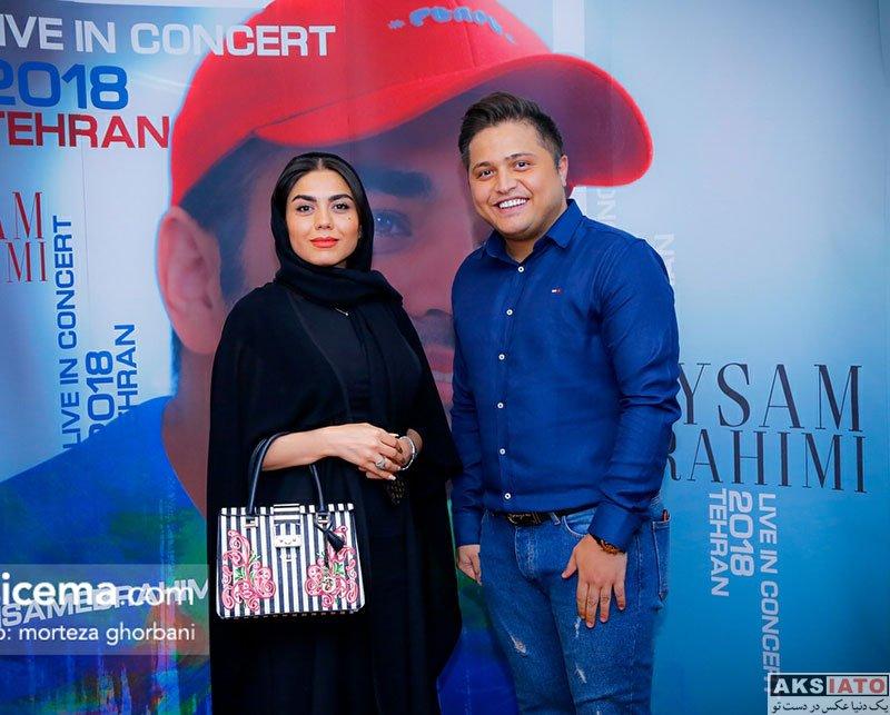 بازیگران بازیگران زن ایرانی  آزاده زارعی در کنسرت میثم ابراهیمی (3 عکس)