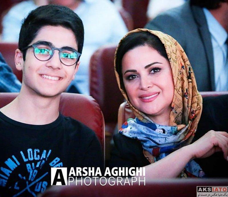 بازیگران بازیگران زن ایرانی  کمند امیرسلیمانی و پسرش در اکران افتتاحیهی فیلم هزارپا (۳ عکس)