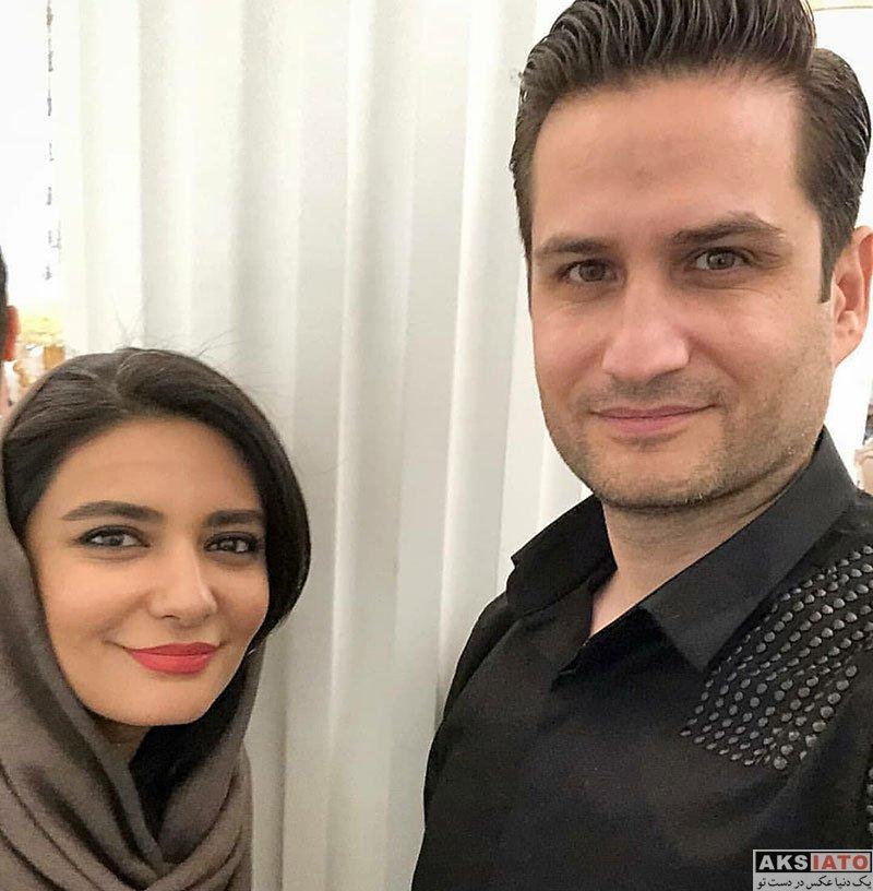 بازیگران بازیگران زن ایرانی  لیندا کیانی در جشن پایان ساخت سریال دلدادگان (۳ عکس)