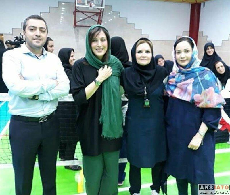 بازیگران بازیگران زن ایرانی  مهتاب کرامتی در اردوی تیم والیبال نشسته بانوان (5 عکس)