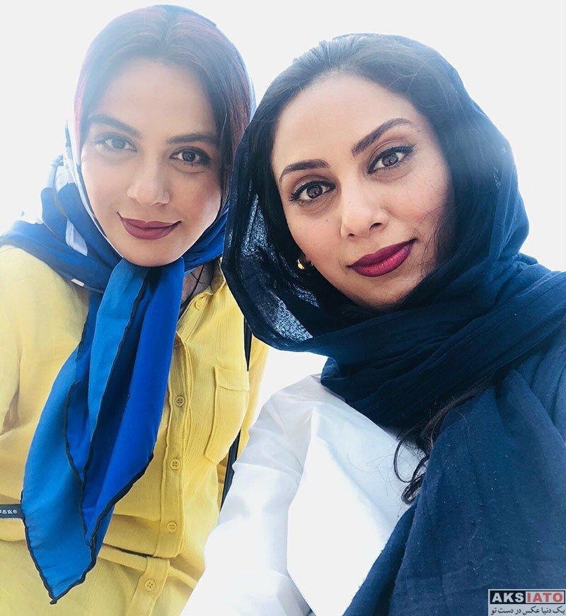 بازیگران بازیگران زن ایرانی  مونا فرجاد و خواهرش در کشور ارمنستان (6 عکس)