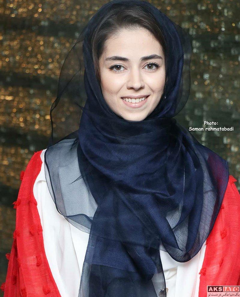 بازیگران بازیگران زن ایرانی  نیلوفر رجایی فر در مراسم رونمایی مستند سریک (4 عکس)