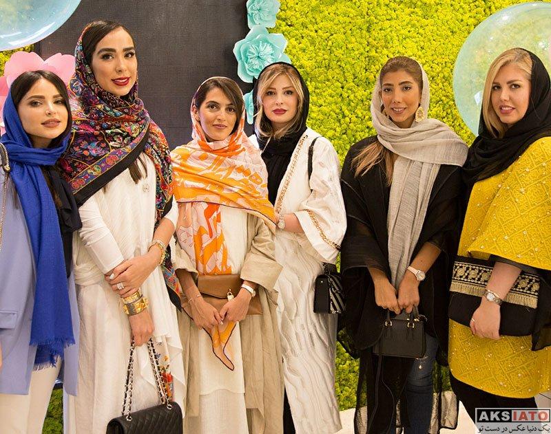 بازیگران بازیگران زن ایرانی  نیوشا ضیغمی در مراسم افتتاحیه مجموعه زیبایی الاه (4 عکس)