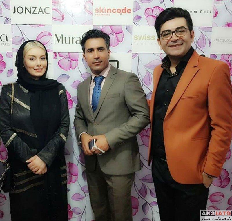 بازیگران بازیگران زن ایرانی  سحر قریشی در افتتاحیه کلینیک زیبایی در رشت (4 عکس)
