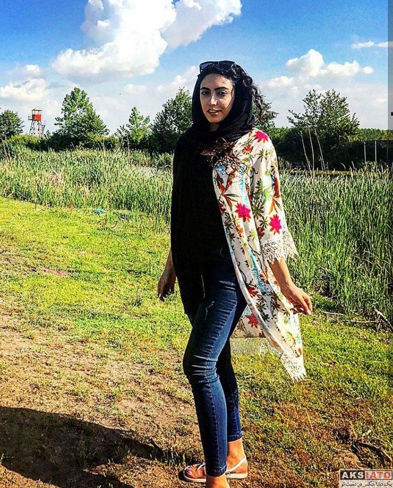 بازیگران بازیگران زن ایرانی  ساناز طاری بازیگر نقش نیکا در سریال پدر (8 عکس)