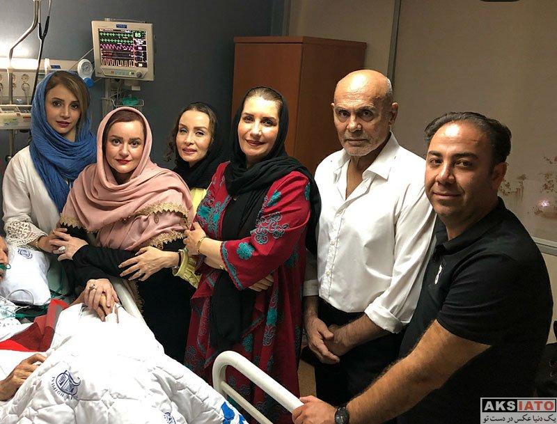 بازیگران بازیگران زن ایرانی  عیادت شبنم قلی خانی و هنرمندان از جمشید مشایخی (4 عکس)