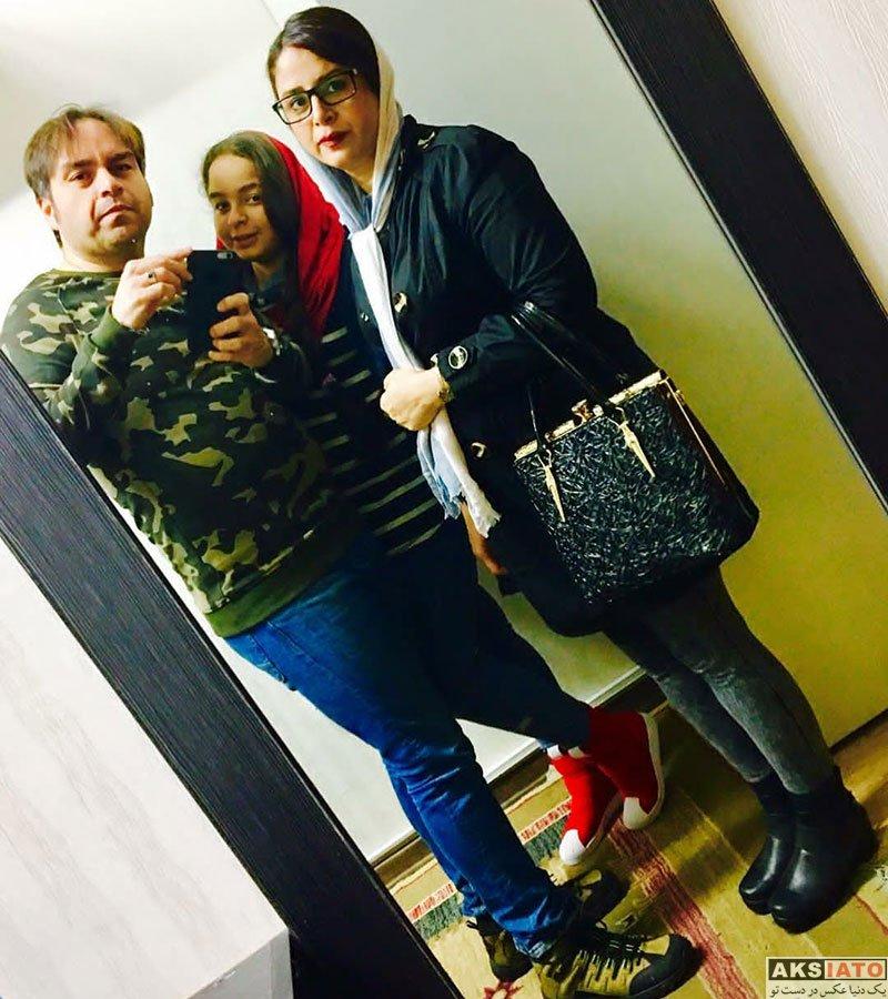 خانوادگی  شهرام قائدی در کنار همسر و دخترش (2 عکس)