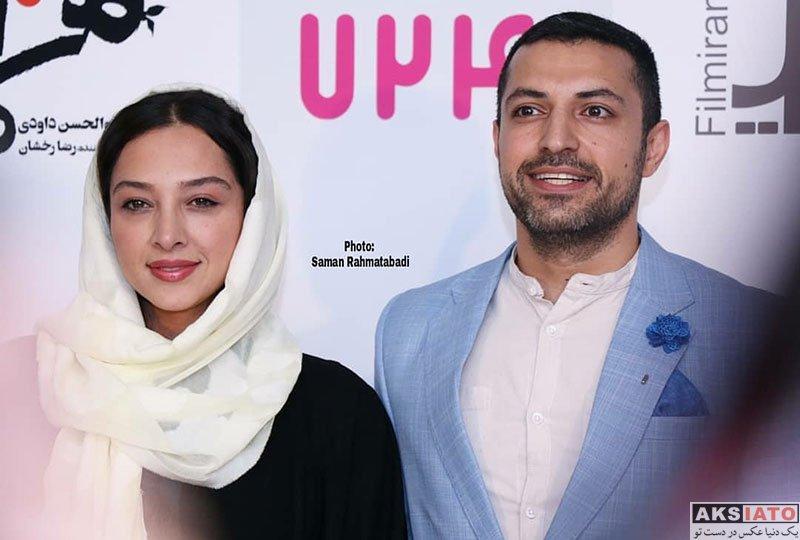 خانوادگی  اشکان خطیبی و همسرش در اکران افتتاحیهی فیلم هزارپا (4 عکس)