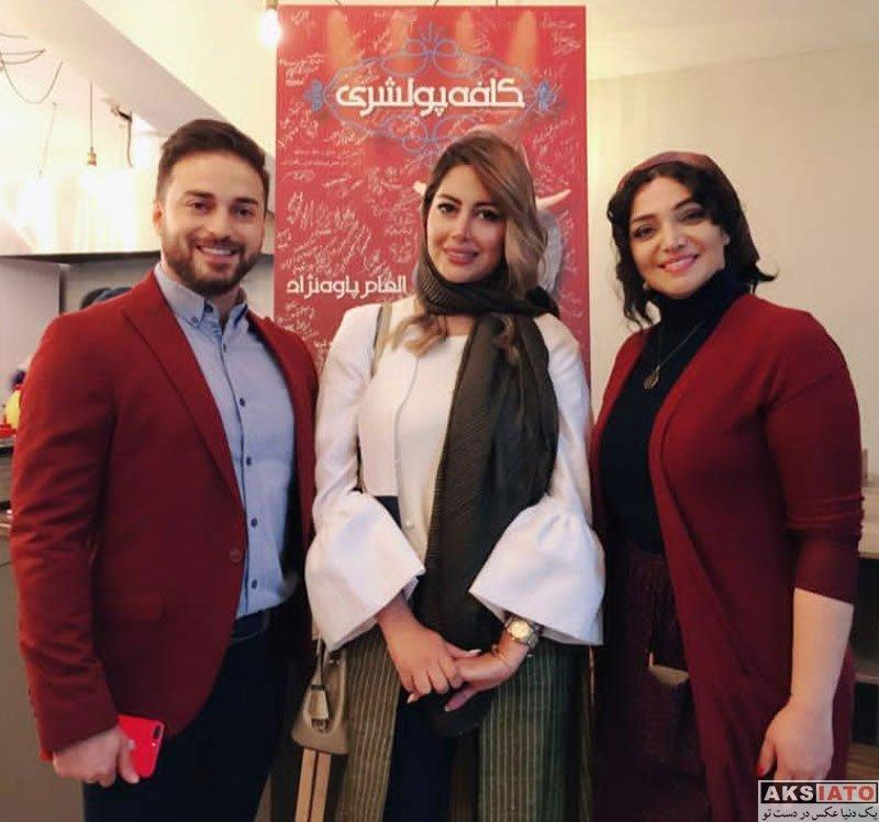 خوانندگان  بابک جهانبخش و همسرش در اجرای نمایش کافه پولشری (2 عکس)