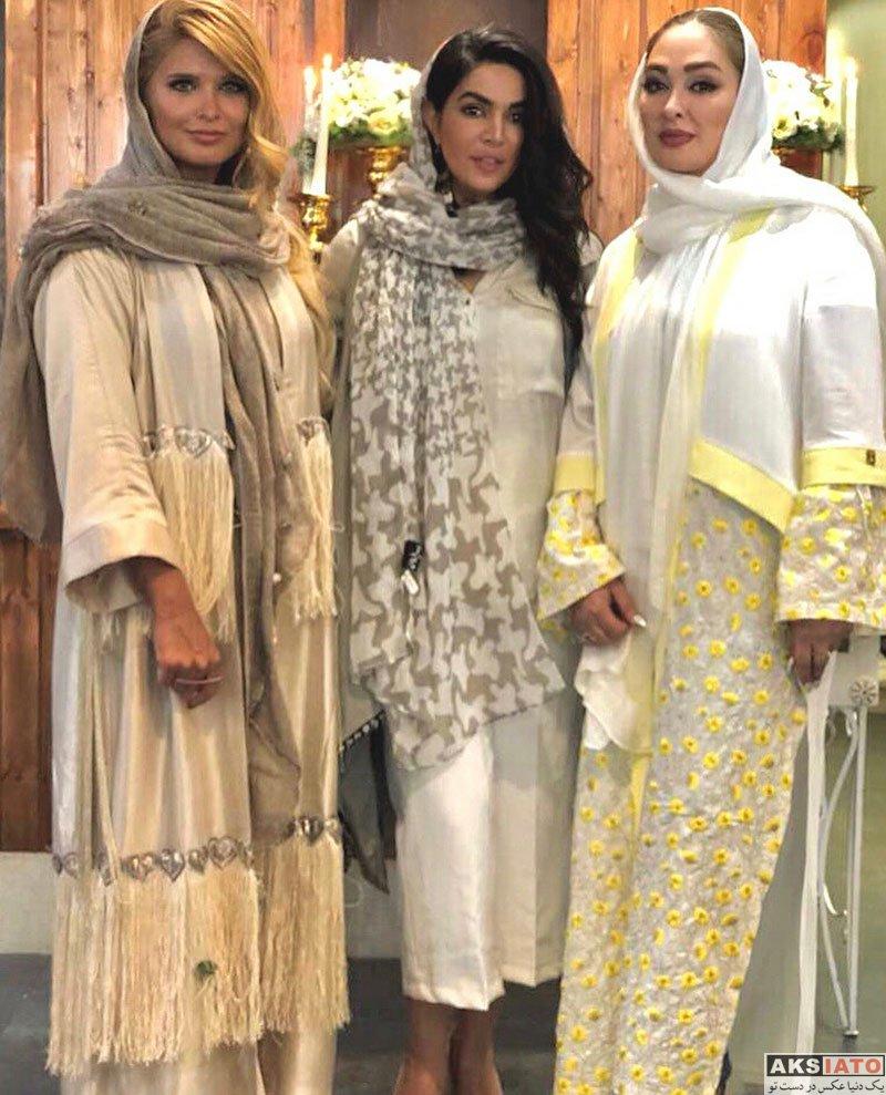 بازیگران بازیگران زن ایرانی  الهام حمیدی در مراسم شوی لباس عروس (6 عکس)