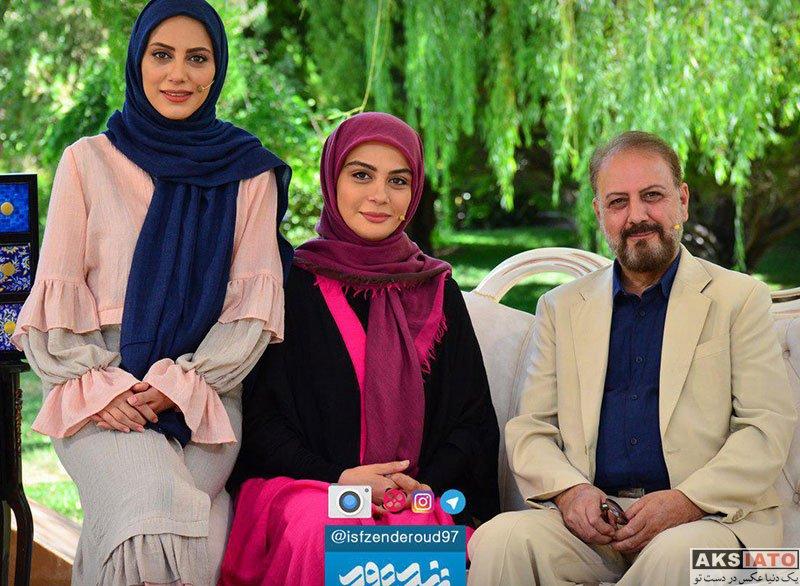 بازیگران بازیگران زن ایرانی  مونا فرجاد و خواهرش در برنامه زنده رود (4 عکس)