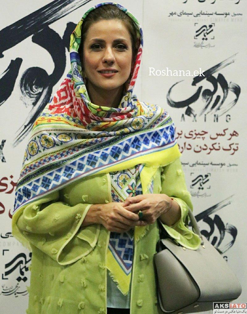 بازیگران بازیگران زن ایرانی  سارا بهرامی با مانتو زرد در اکران مردمی فیلم دارکوب (10 عکس)