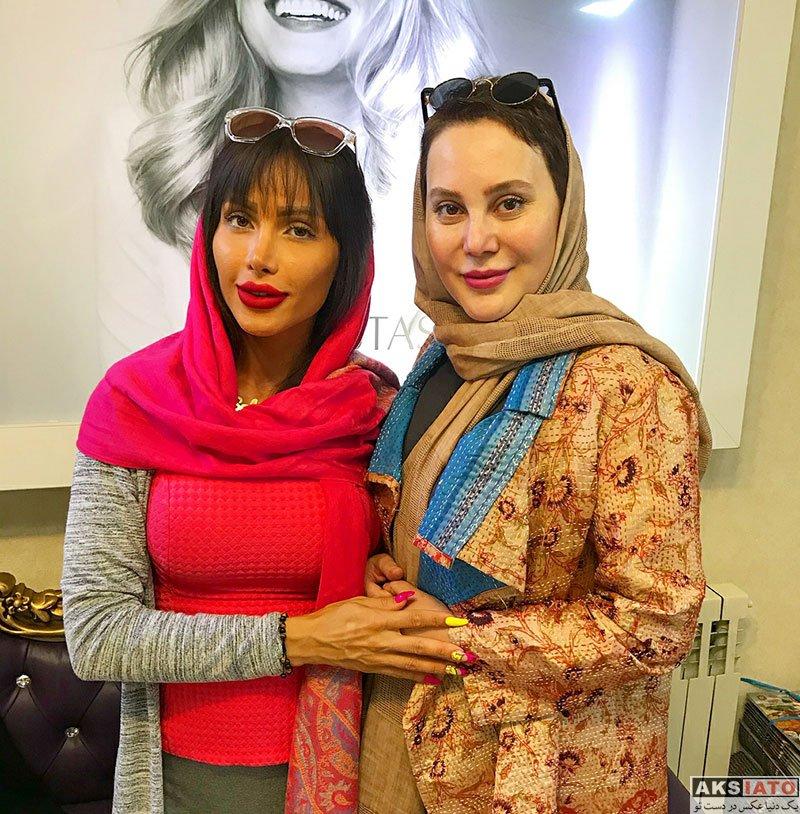 بازیگران بازیگران زن ایرانی  آرام جعفری در سالن زیبایی سها (3 عکس)
