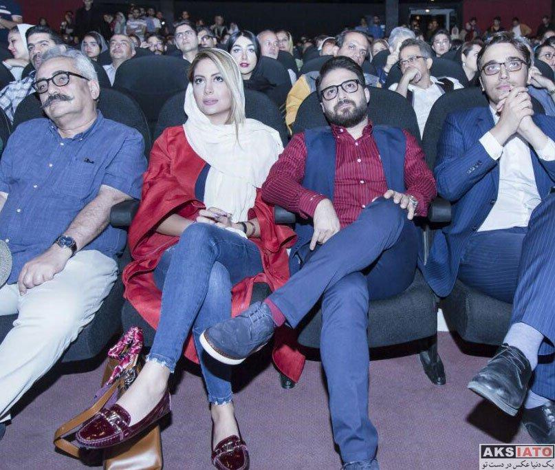 خانوادگی خوانندگان  بابک جهانبخش و همسرش در مراسم تجلیل از ژاله علو (3 عکس)