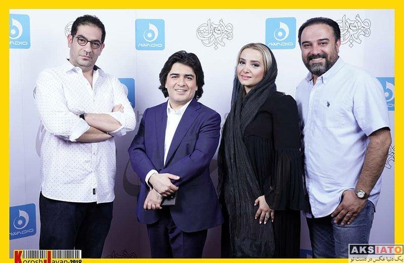 بازیگران مرد ایرانی خانوادگی  برزو ارجمند و همسرش در کنسرت مهران مدیری (۳ عکس)