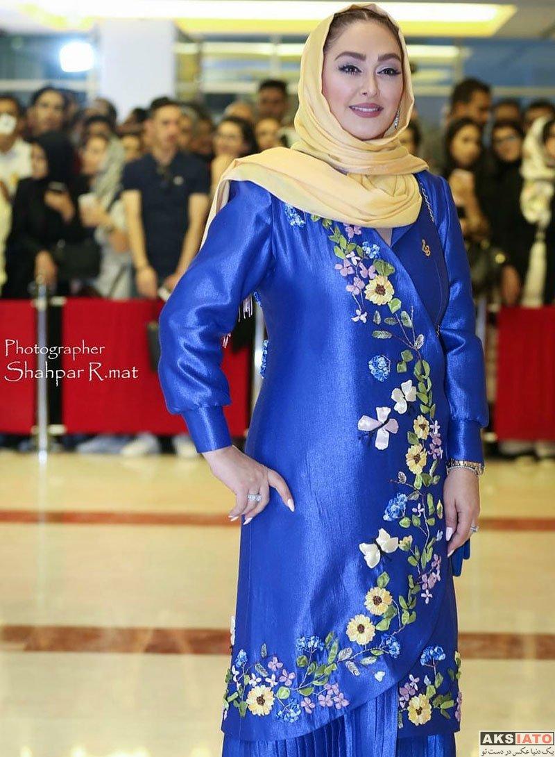 بازیگران بازیگران زن ایرانی جشن حافظ  الهام حمیدی در هجدهمین جشن حافظ ۹۷ (3 عکس)