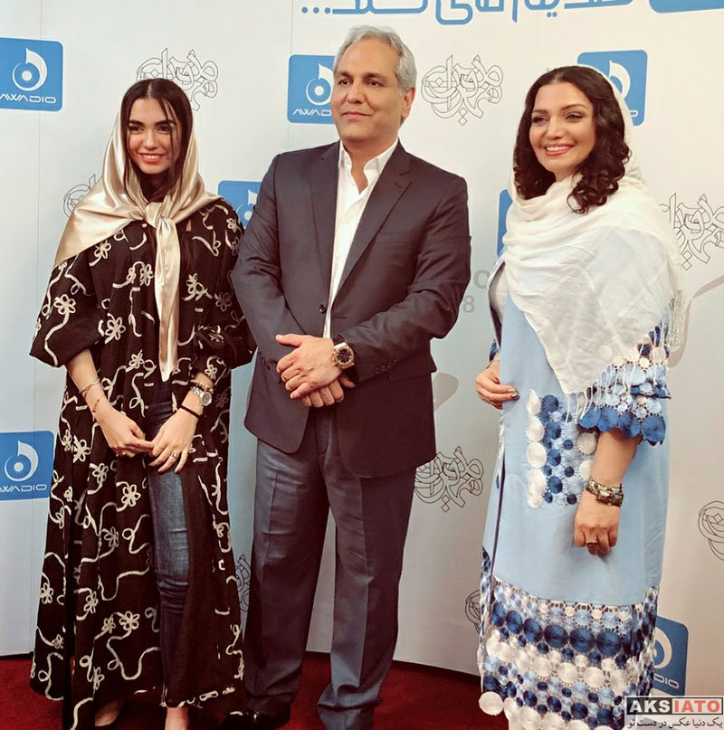 بازیگران بازیگران زن ایرانی  الهام پاوه نژاد و دخترش در کنسرت مهران مدیری (4 عکس)