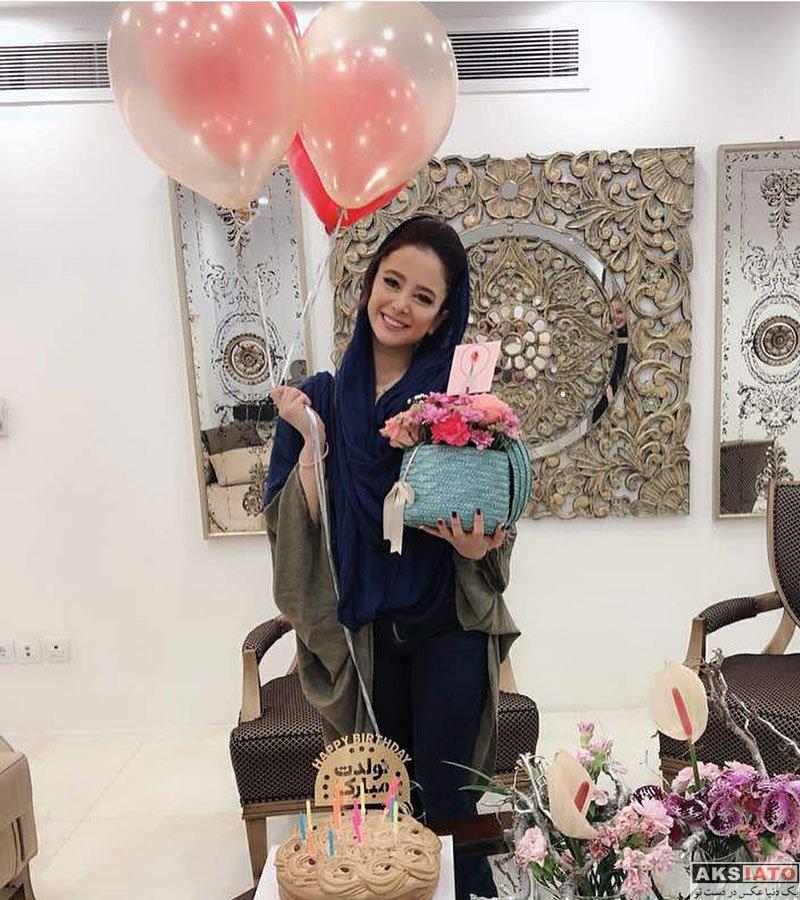 بازیگران بازیگران زن ایرانی جشن تولد ها  جشن تولد الناز حبیبی در سالن زیبایی (4 عکس)