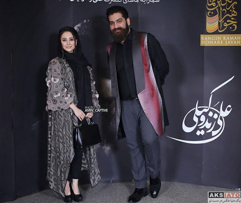 بازیگران بازیگران زن ایرانی  الناز حبیبی در کنسرت علی زند وکیلی (4 عکس)