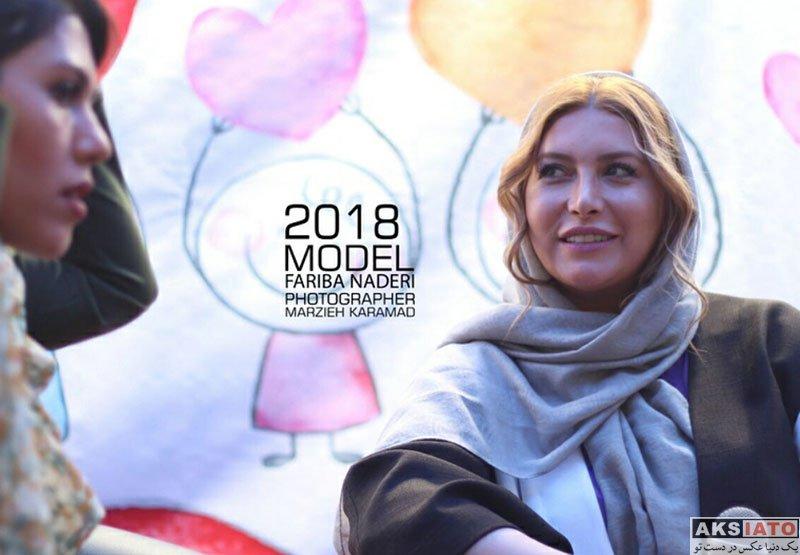 بازیگران بازیگران زن ایرانی  فریبا نادری در بازارچه خیریه حضرت زینب (4 عکس)
