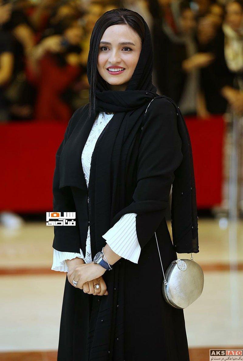 بازیگران بازیگران زن ایرانی جشن حافظ  گلاره عباسی در هجدهمین جشن حافظ ۹۷ (2 عکس)