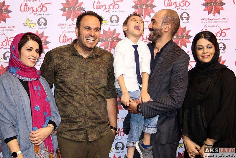بازیگران بازیگران مرد ایرانی خانوادگی  هادی حجازی فر و همسرش در اکران خصوصی فیلم کاتیوشا (2 عکس)