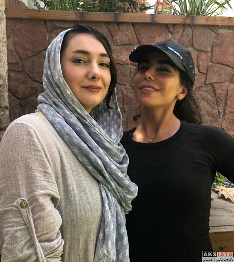 بازیگران بازیگران زن ایرانی  هانیه توسلی در کنار مربی بدنسازی اش (3 عکس)