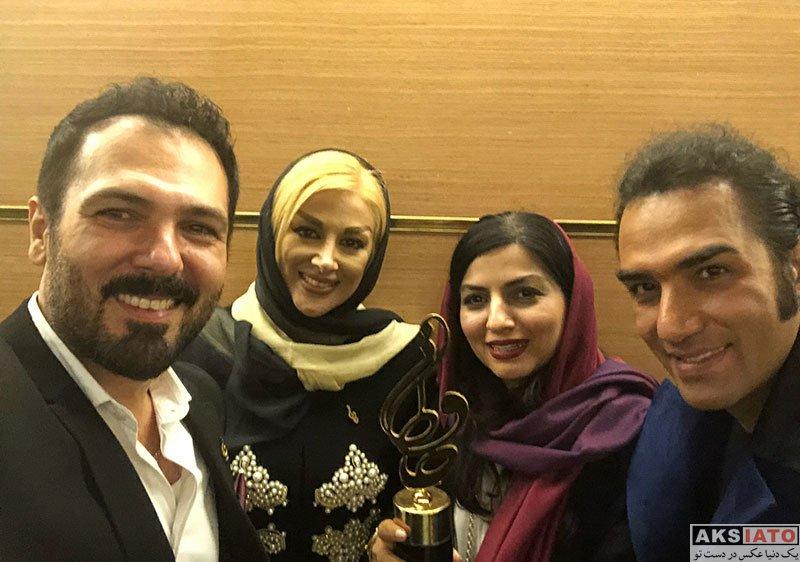 بازیگران بازیگران زن ایرانی جشن حافظ خانوادگی  کوروش تهامی و همسرش در هجدهمین جشن حافظ ۹۷ (۳ عکس)