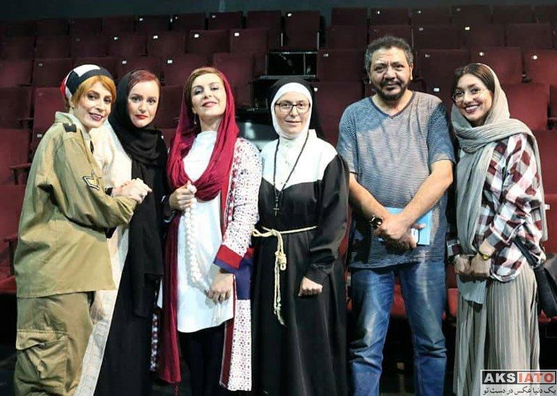 بازیگران بازیگران زن ایرانی  ماه چهره خلیلی در اجرای نمایش دیکتاتور عاشق (4 عکس)