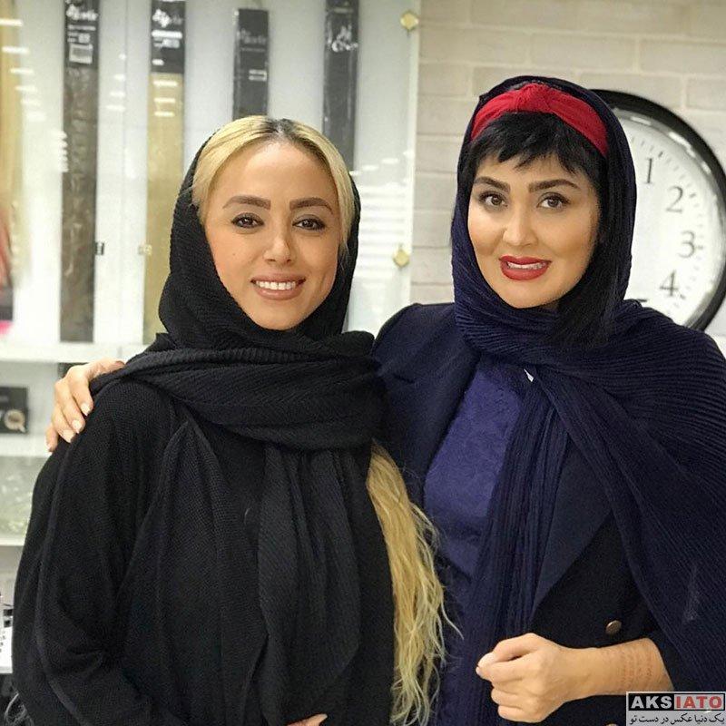 بازیگران بازیگران زن ایرانی  مریم معصومی در سالن زیبایی آفرینا (5 عکس)