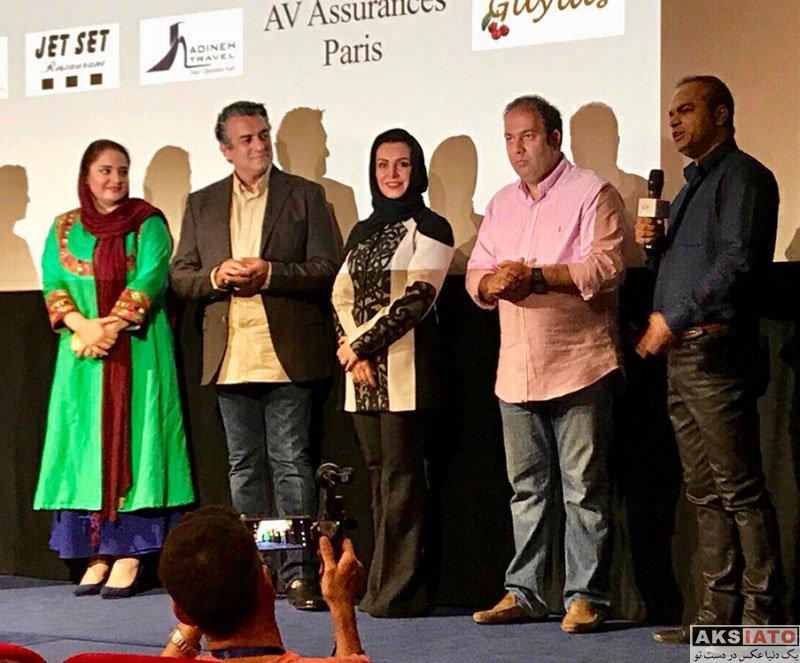 بازیگران بازیگران زن ایرانی  نرگس محمدی در اکران فیلم قرارمون پارک شهر در پاریس (3 عکس)
