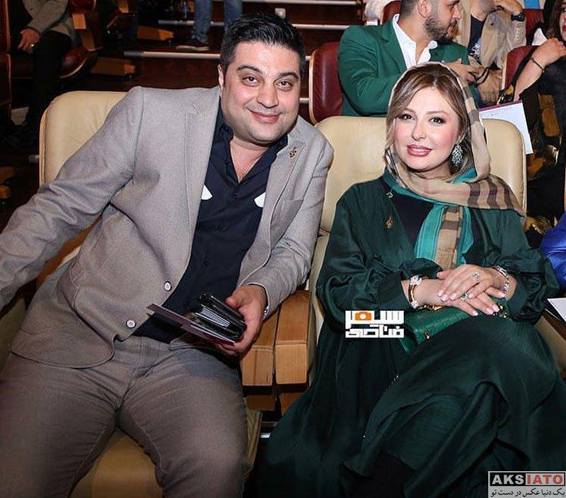 بازیگران بازیگران زن ایرانی جشن حافظ  نیوشا ضیغمی و همسرش در هجدهمین جشن حافظ ۹۷ (4 عکس)