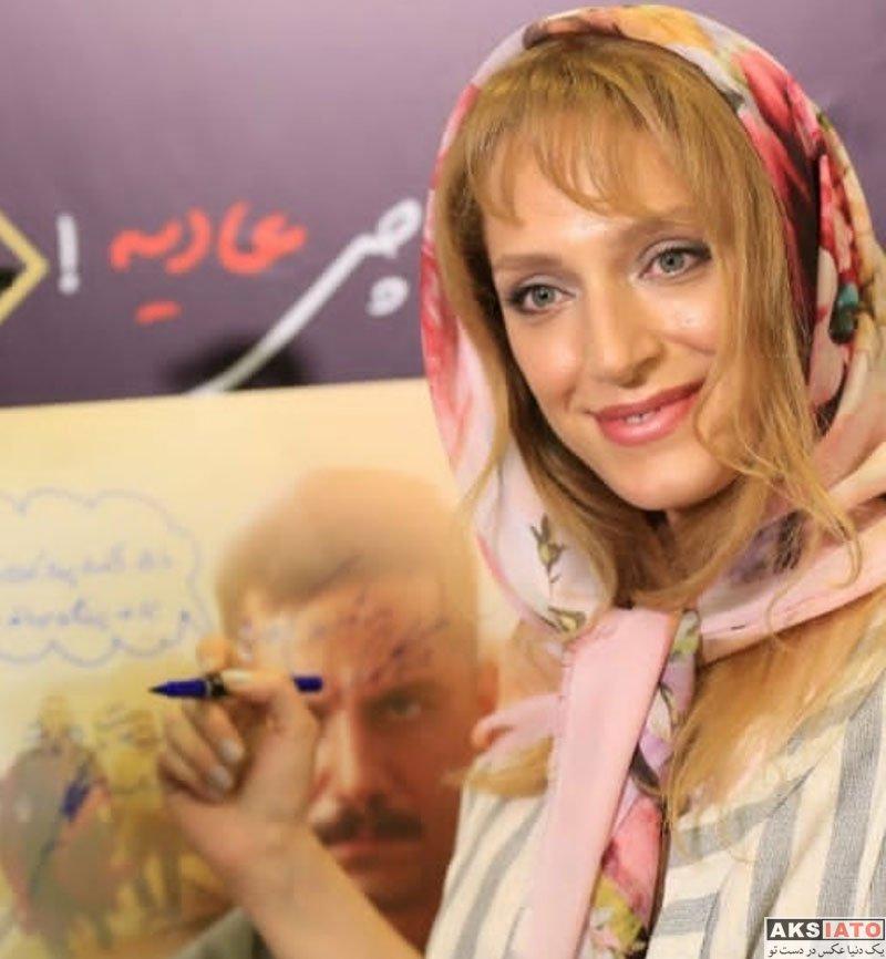 بازیگران بازیگران زن ایرانی  نگین معتضدی در اکران خصوصی فیلم همه چی عادیه (6 عکس)