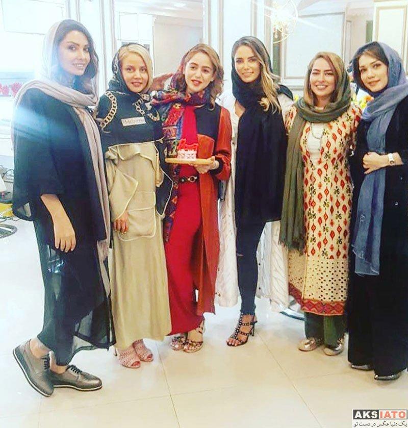 بازیگران بازیگران زن ایرانی  سمانه پاکدل در ایونت ساین زیبایی شادی عقیلی (4 عکس)