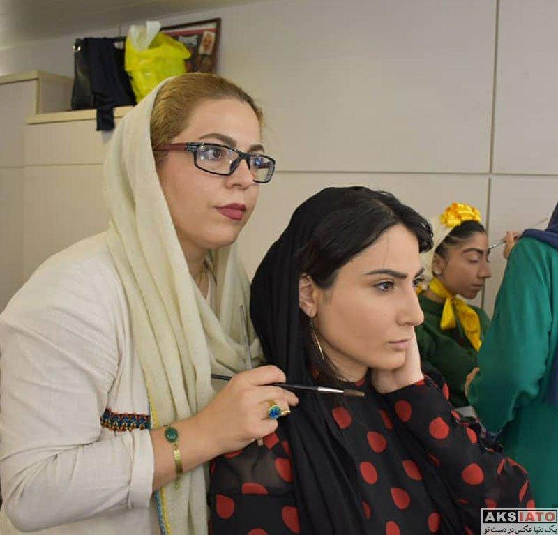 بازیگران بازیگران زن ایرانی  سمیرا حسن پور در با گریم نمایش سس توت فرنگی (4 عکس)