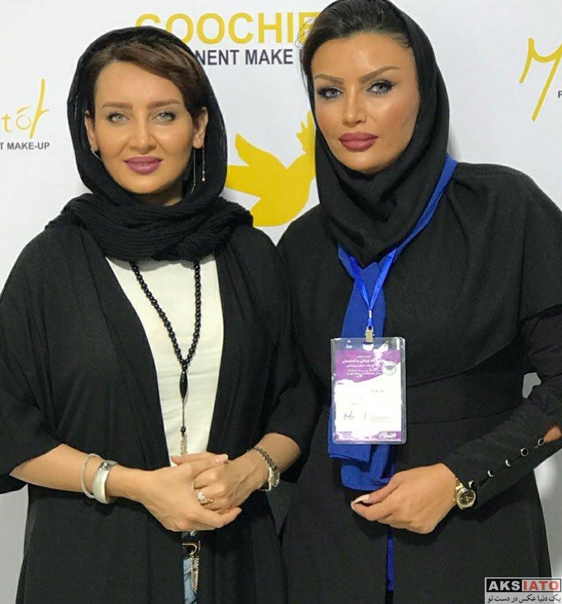 بازیگران بازیگران زن ایرانی  سولماز حصاری در نمایشگاه زیبایی و تندرستی (3 عکس)
